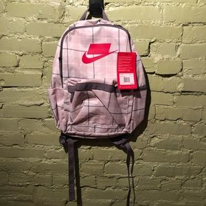 Nike NWT Backpack pink gray plaid red logo